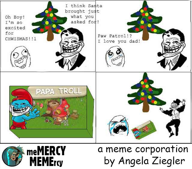 Troll Dad: Christmas Jeer - meme