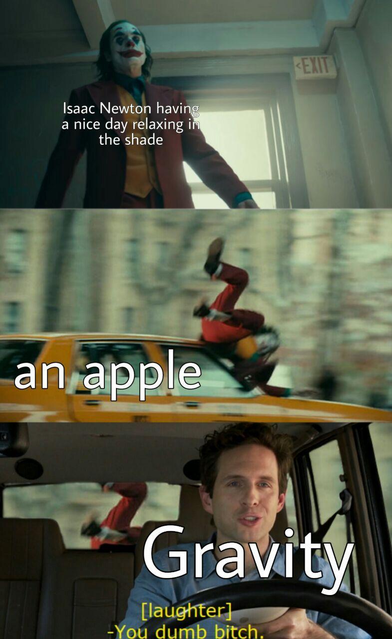 Gravity rules - meme