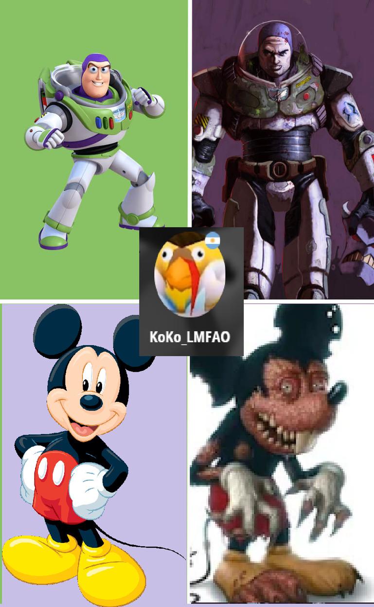 Mickey mouse en la vida real - meme