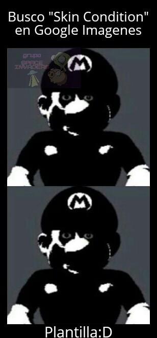 Plantilla del Mario gratis - meme