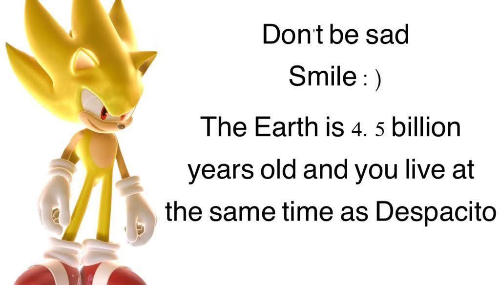 Is Super Sonic has enough power to defeat Luis Fonsi ? - meme