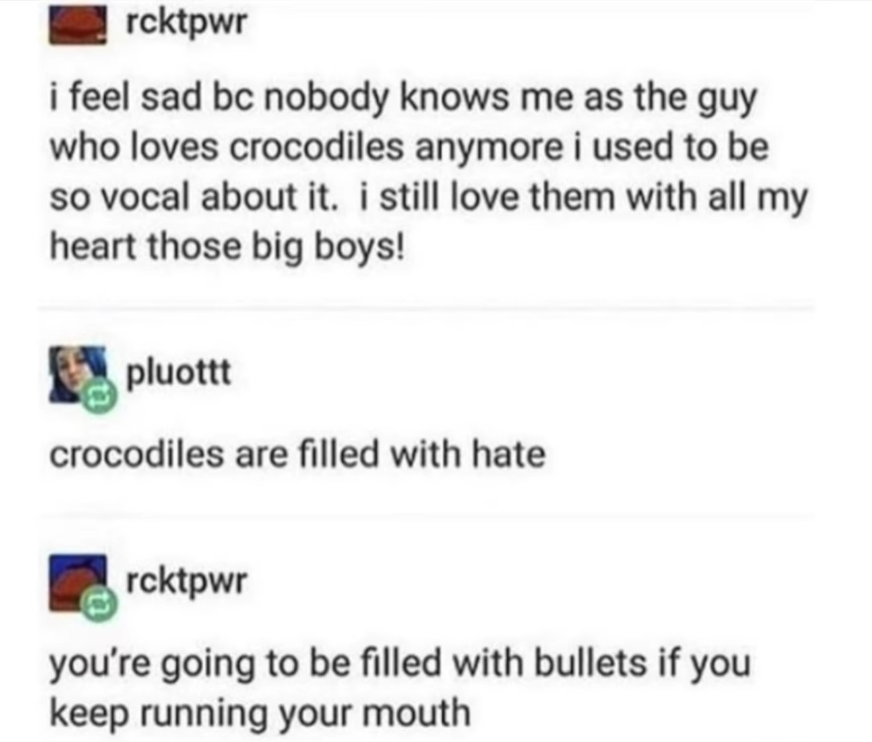 I luv crocodiles too - meme