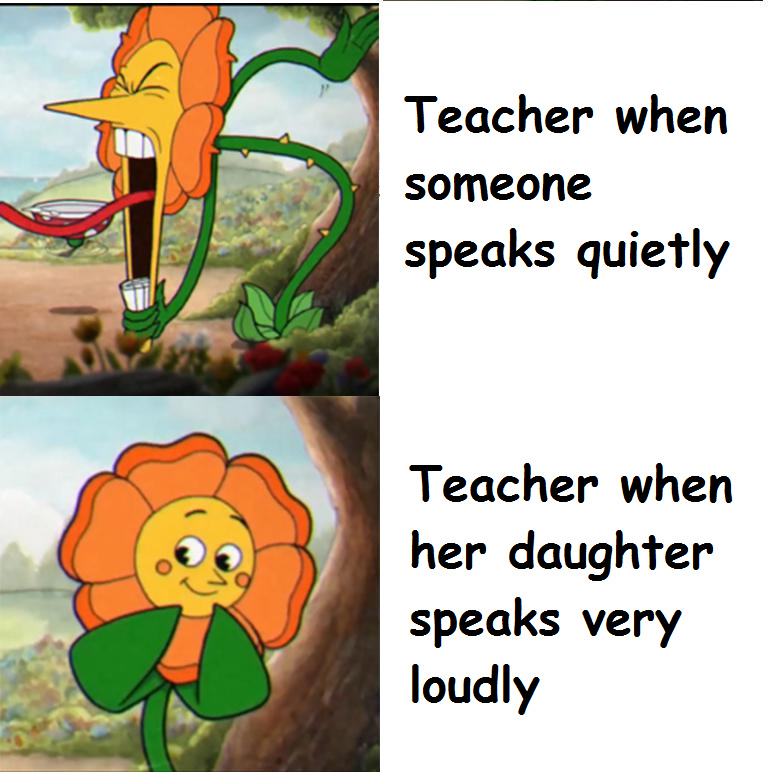 Teacher logic - meme