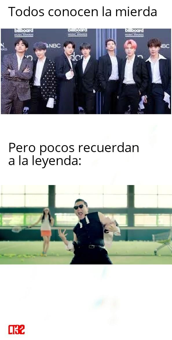 BTS=Malo/PSY= BUENO - meme