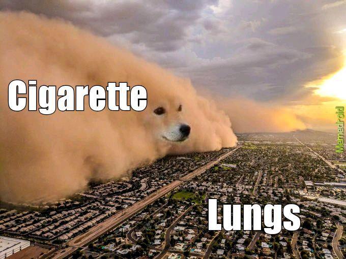 Don't smoke - meme
