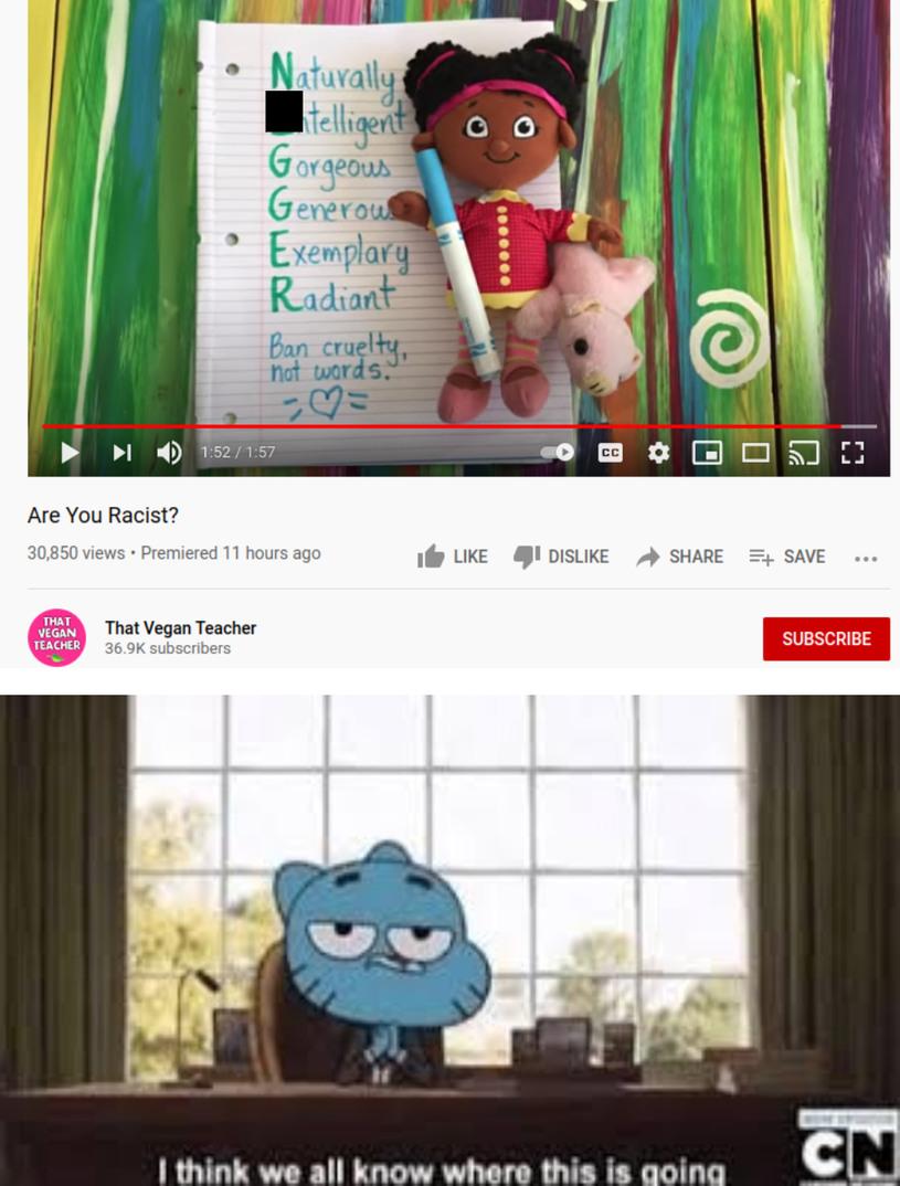 vegan teacher don't need to be existed - meme