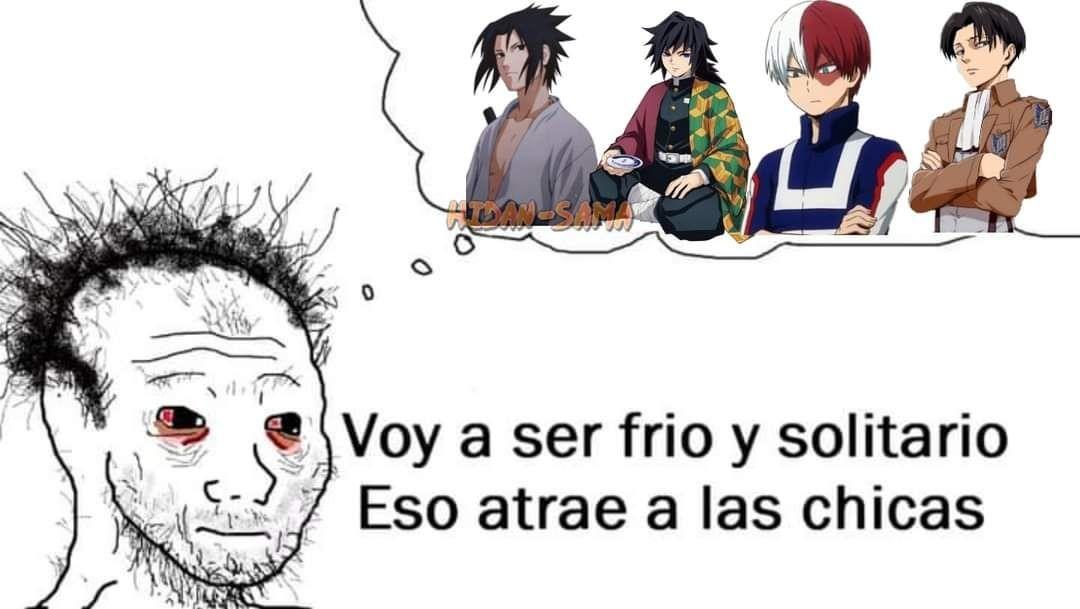 La imaginación de los otakus..... - meme