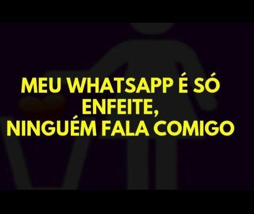 Esse WhatsApp tá uma porra - meme