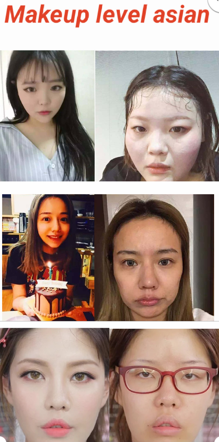 Asian makeup skills - meme