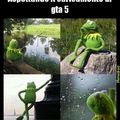Waiting kermit