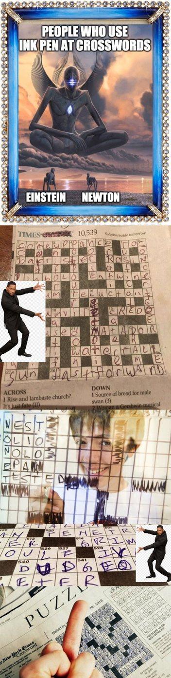 ink crosswords - meme
