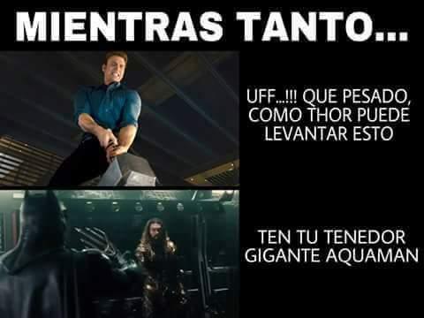 Aquaman es también un Dios - meme