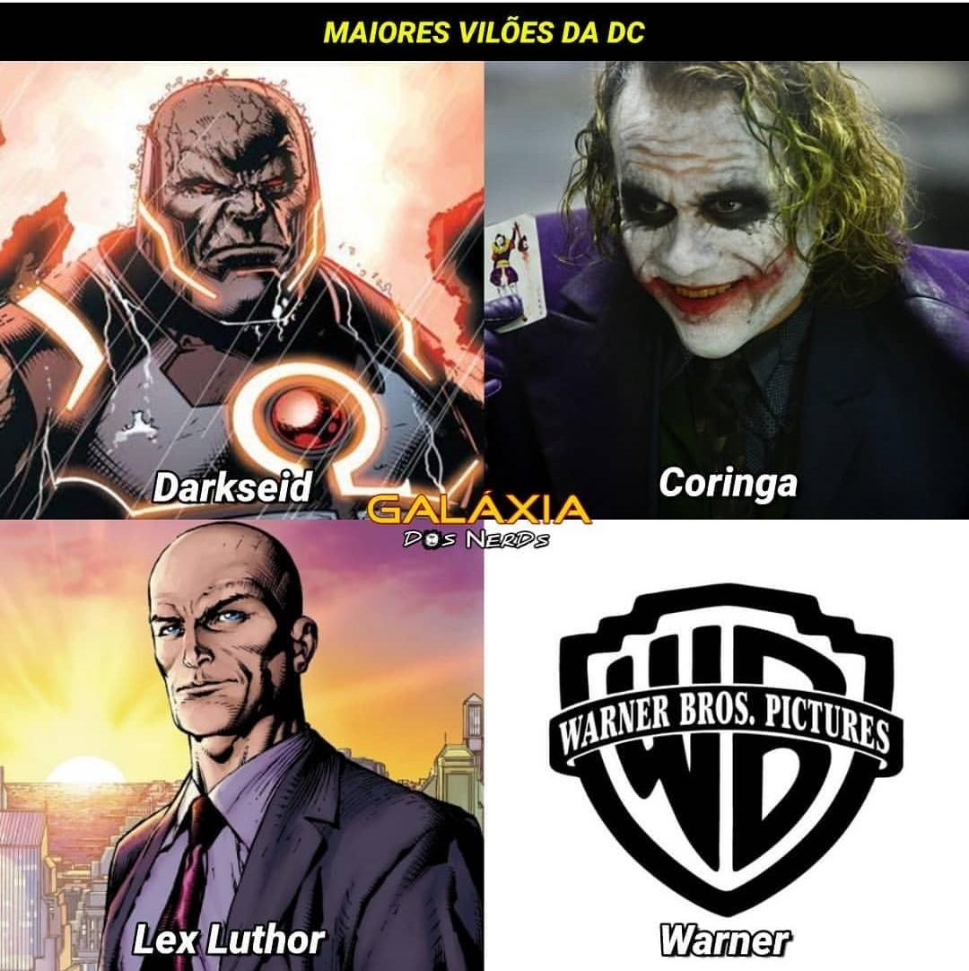 WB maior vilão - meme