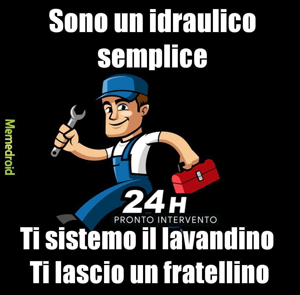 Idraulico - meme