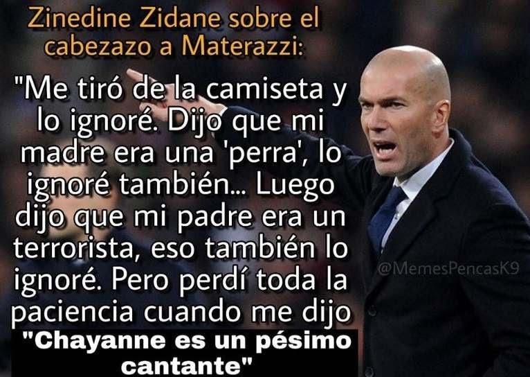 Zidane si sabe de música - meme
