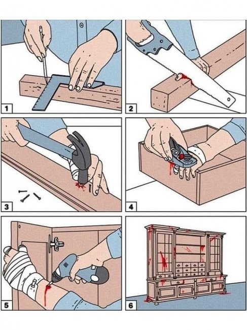 Un profesional de la carpintería - meme