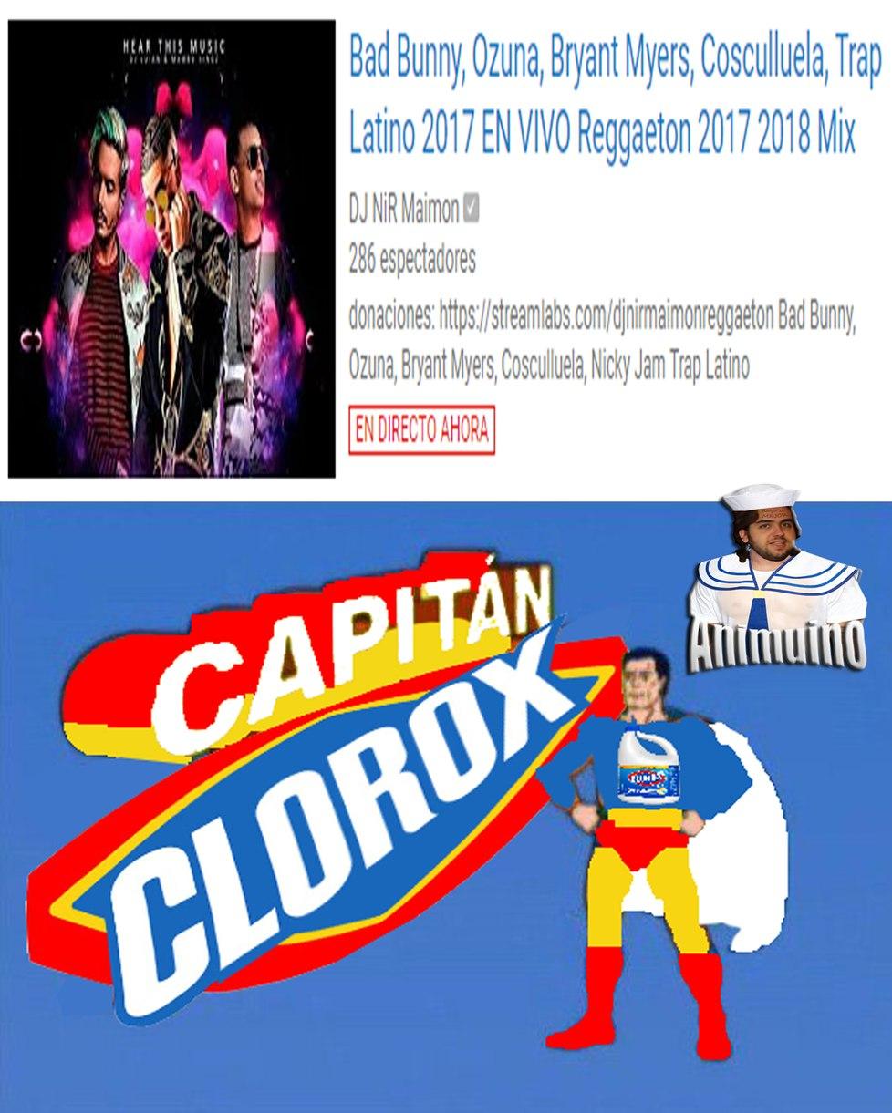 espero que les guste el capitan clorox - meme