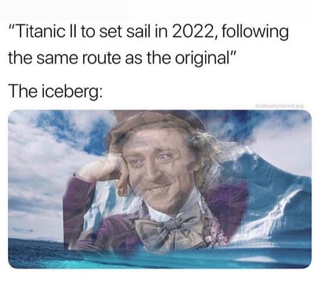 poor iceberg being bullied - meme