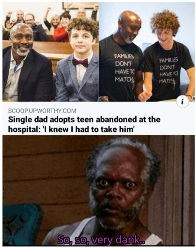 Single dad adopts teen abandoned at the hospital - meme