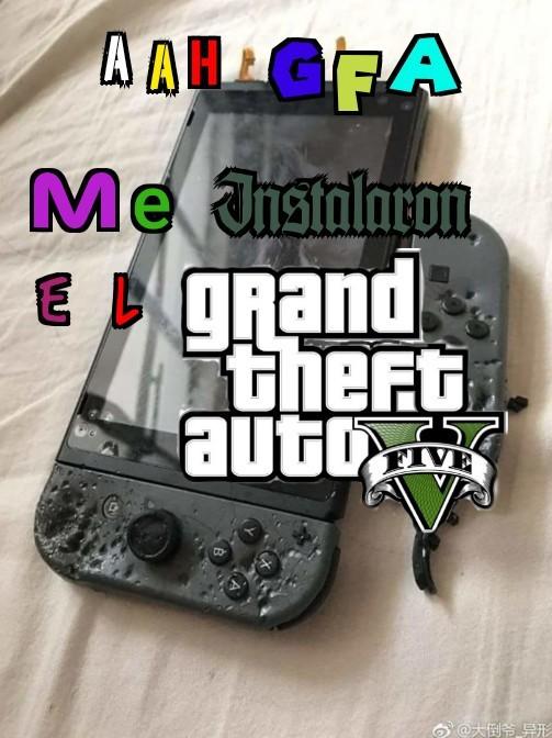 No creo que salga el GTA v para switch algún día PD: malardo - meme