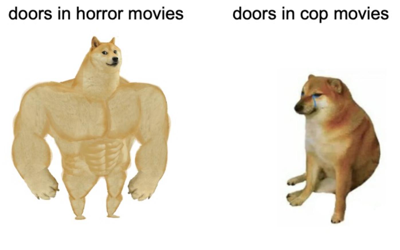 or is it just cops are professional door-kickers - meme