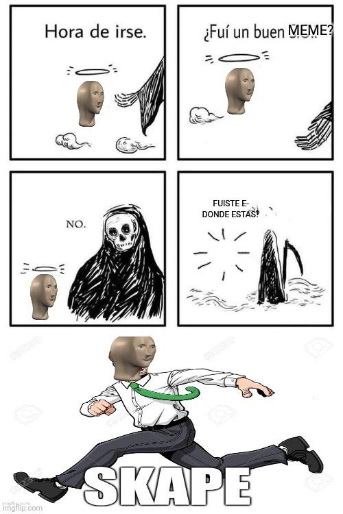Evitó a la muerte - meme