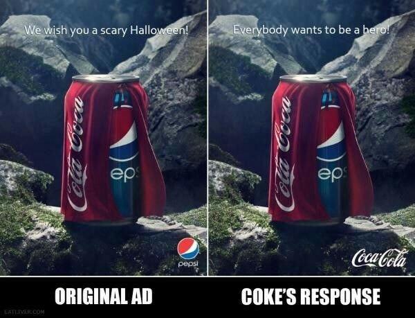prefer coke's ad - meme