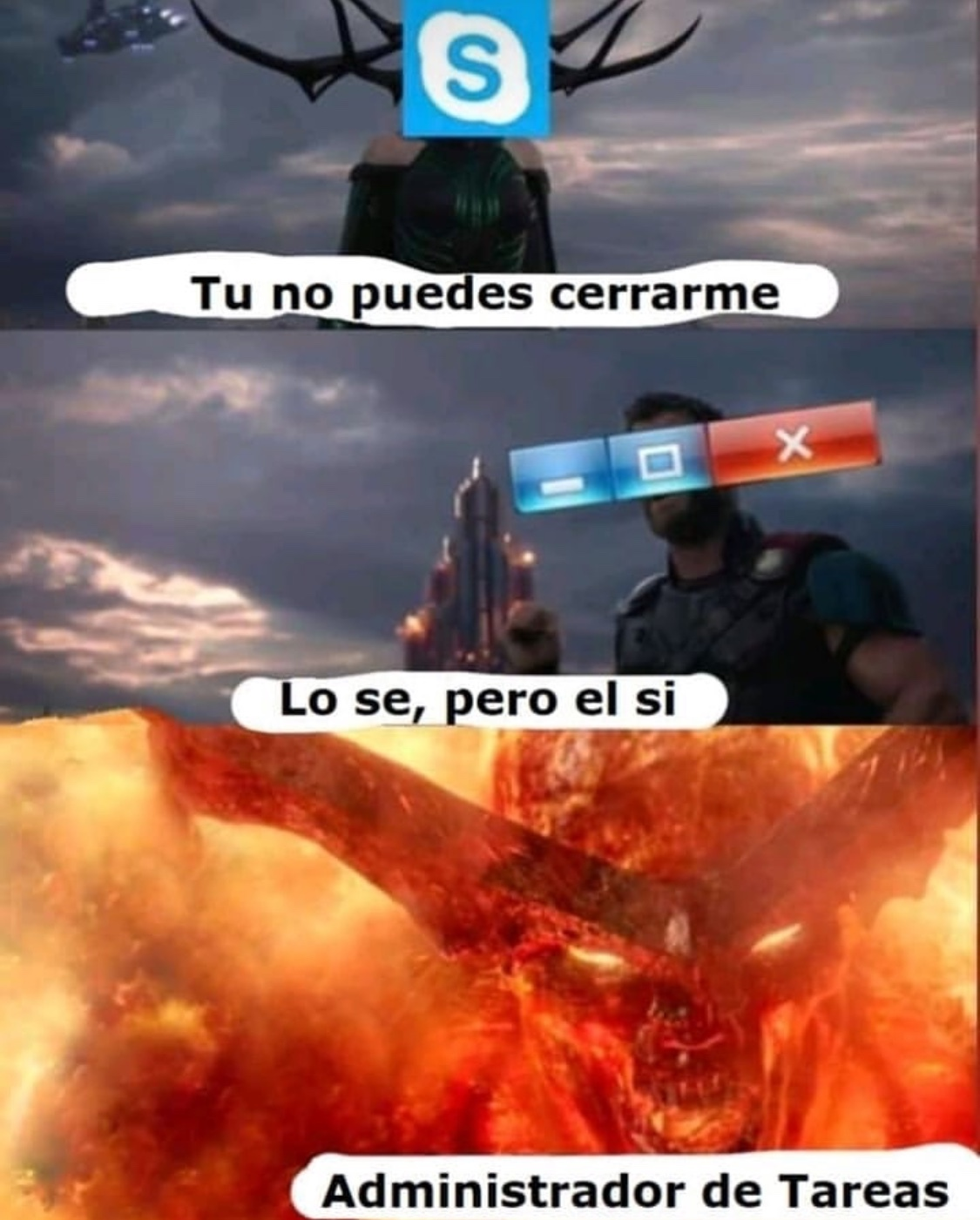 pummm es tu cara Windows - meme