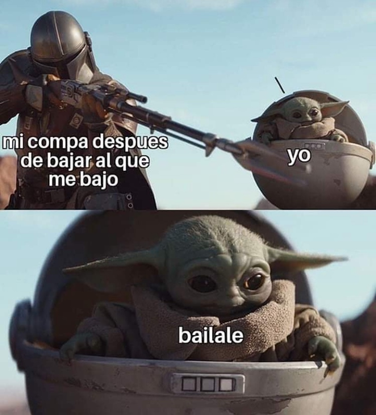 Baby Yoda ya no da risa :Change my mind: - meme