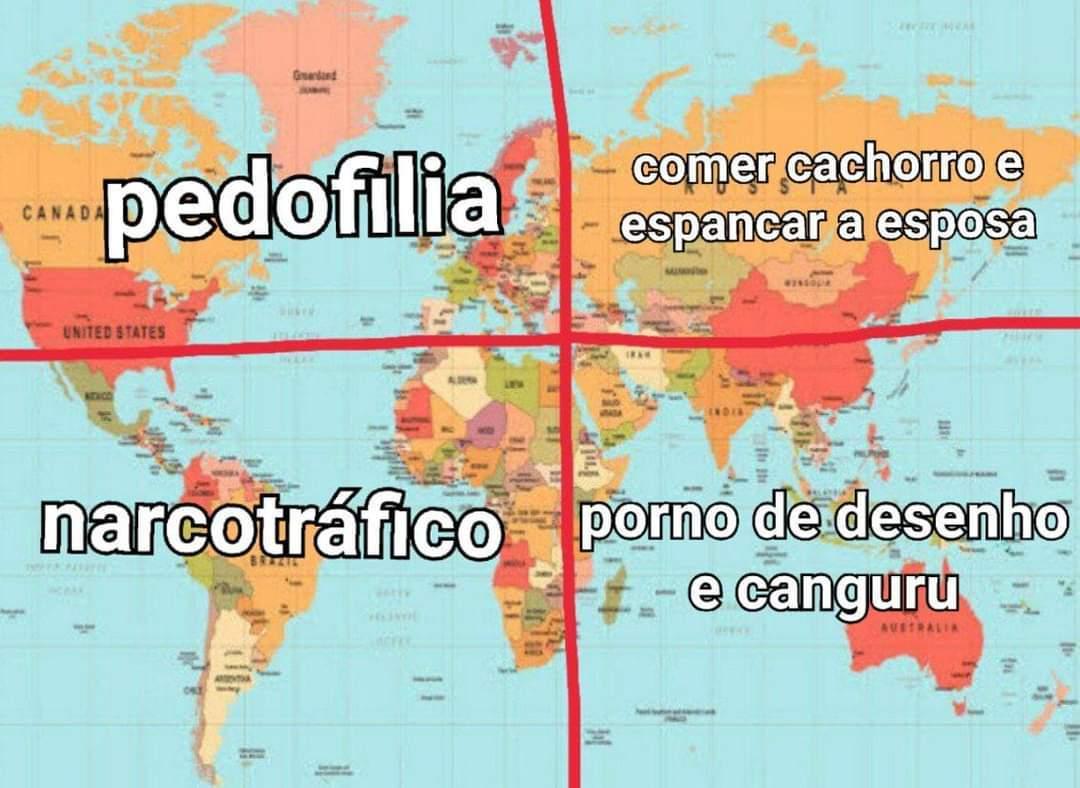 Um breve resumo dos continentes :D - meme