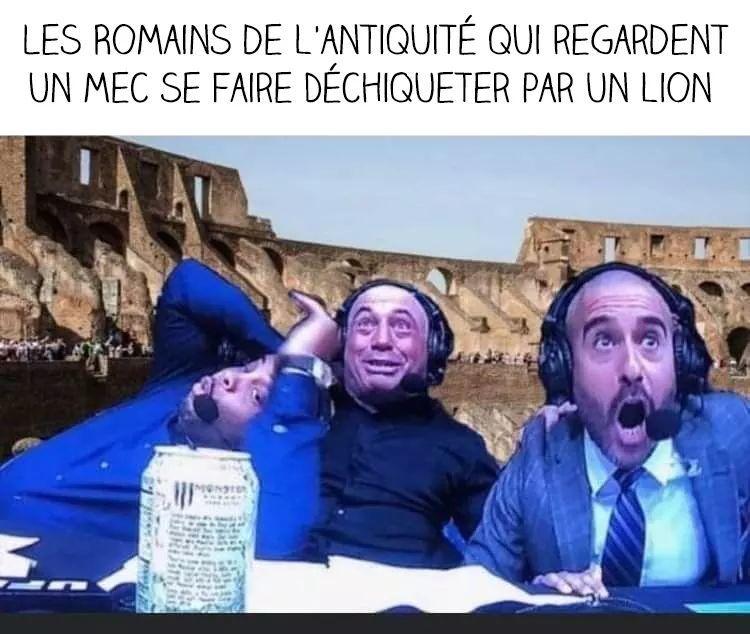 Les casters de combat de gladiateurs en sueur - meme