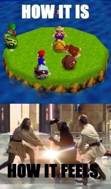 Mario party is no joke. - meme