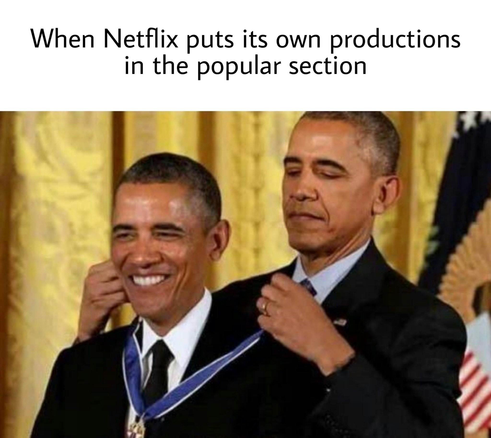 Netflix Originals are fire - meme