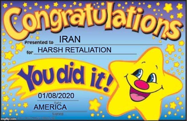 Congrats Iran - meme