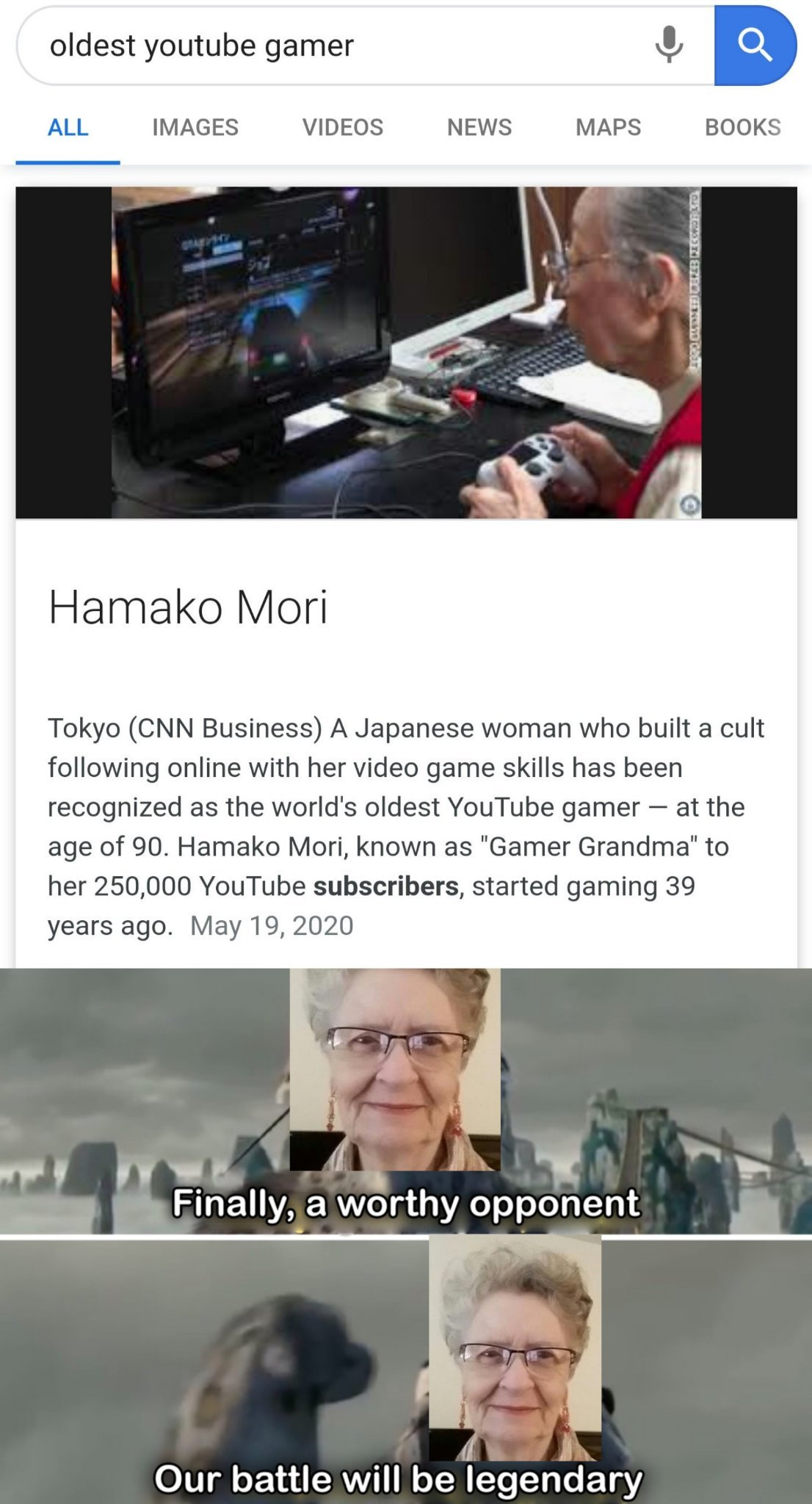 Grandma Shirley vs some Japanese woman - meme