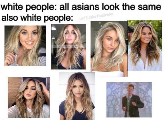 All asians look the same - meme