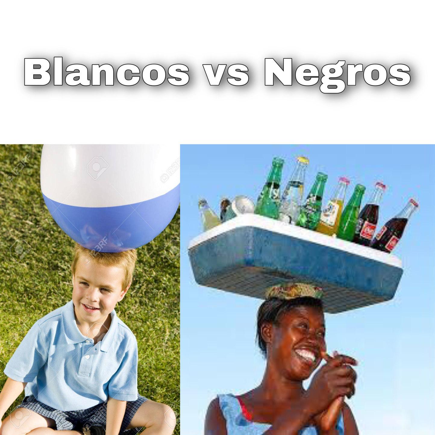Blancos vs Negros - meme