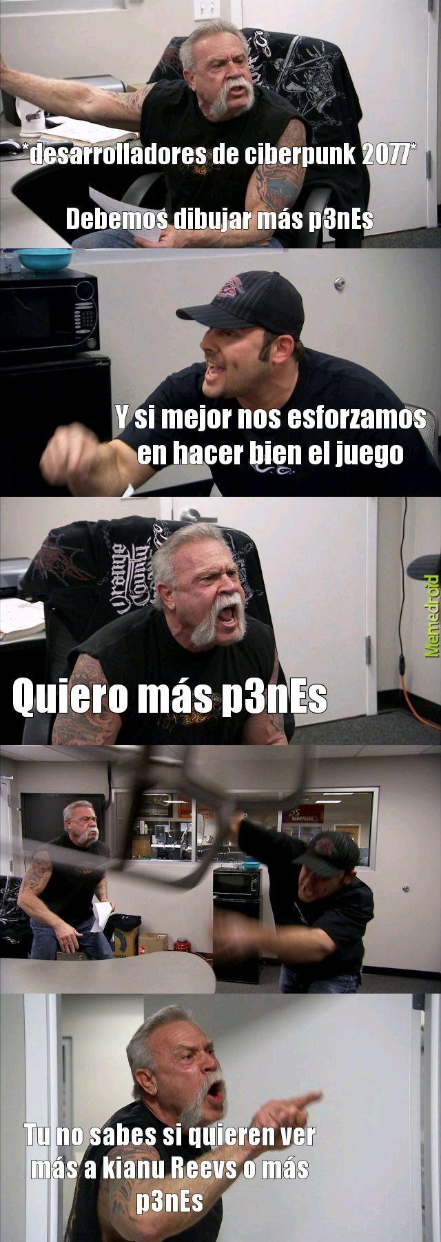 Los desarrolladores de ciberpunk 2077 - meme
