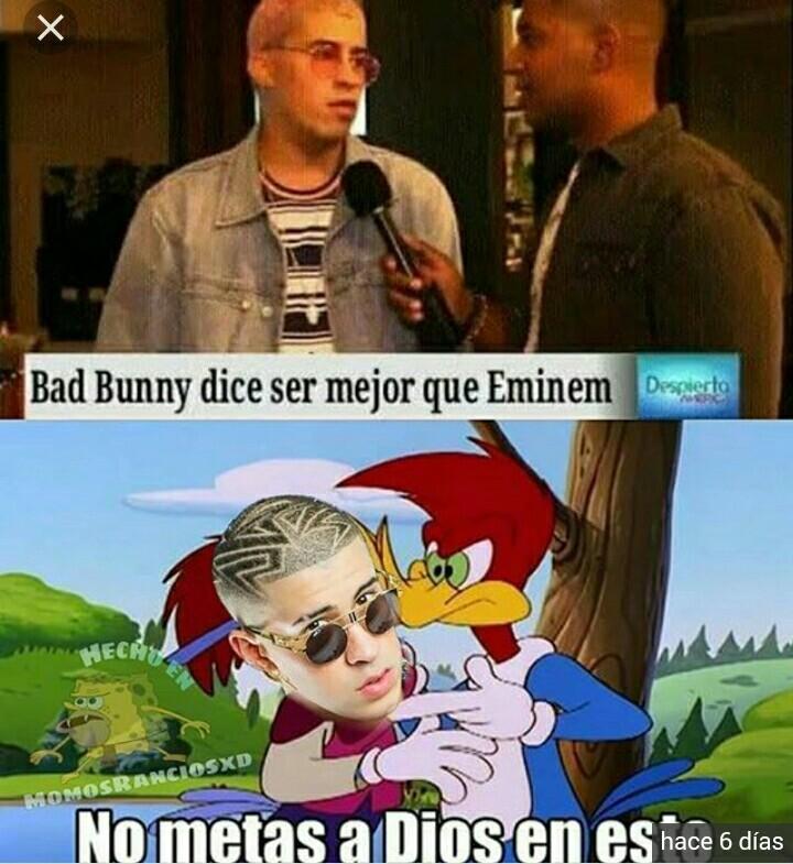 Eminem y bad bunny - meme