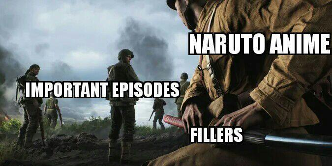 Naruto Anime in a nutshell - meme