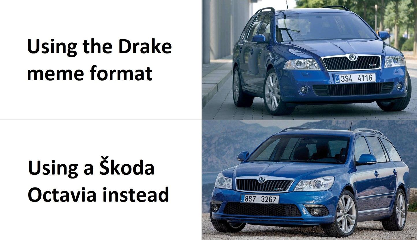 Škoda Octavia II (pre-facelift and facelift) - meme