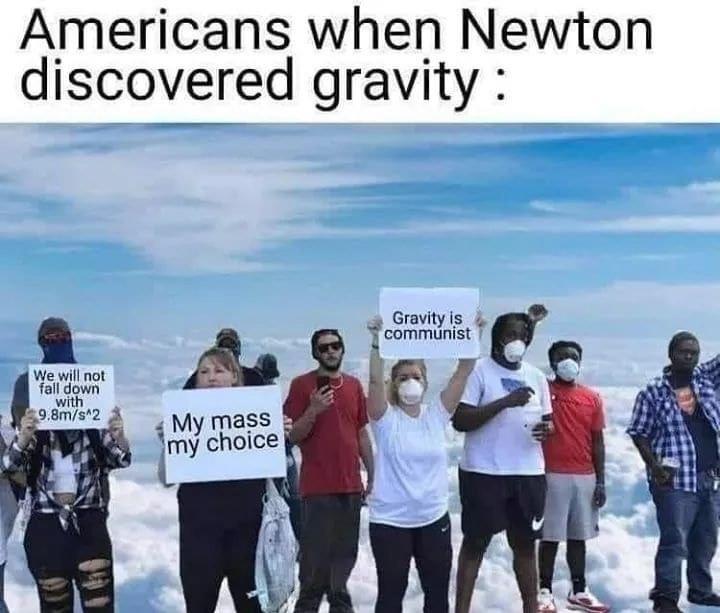 gravity is communism - meme