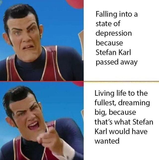 RIP Stefan Karl - meme