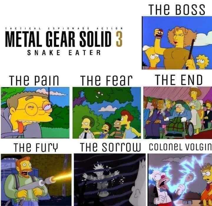 MGS 3 is pretty good. - meme