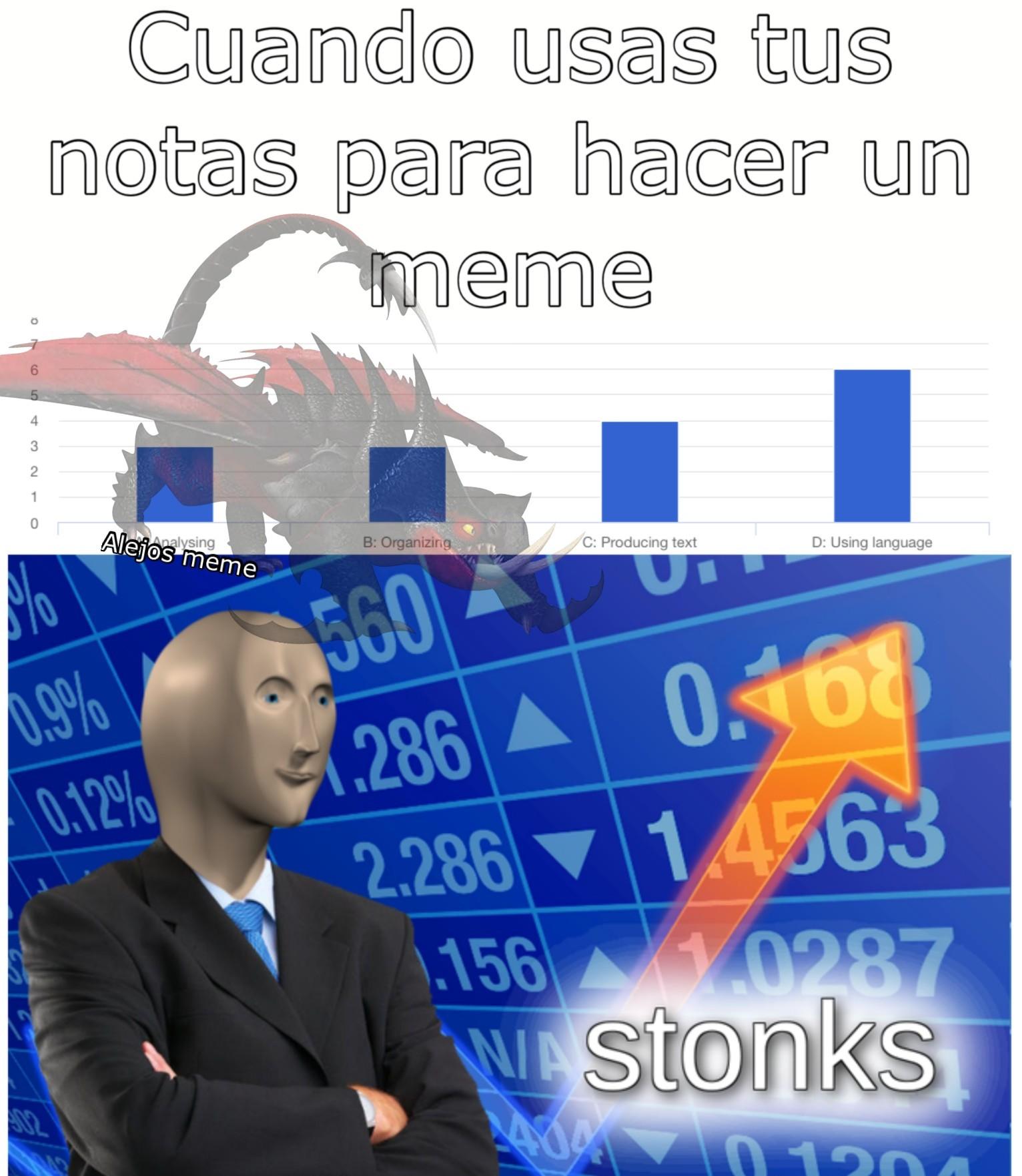 Cuando mejoras tus notas apropósito para hacer un meme