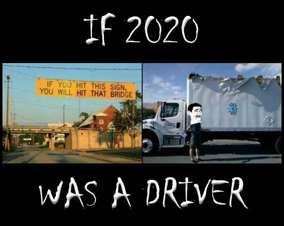 if 2020 was a driver - meme