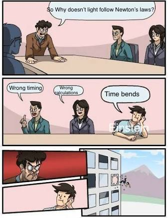 Theory of Relativity - meme