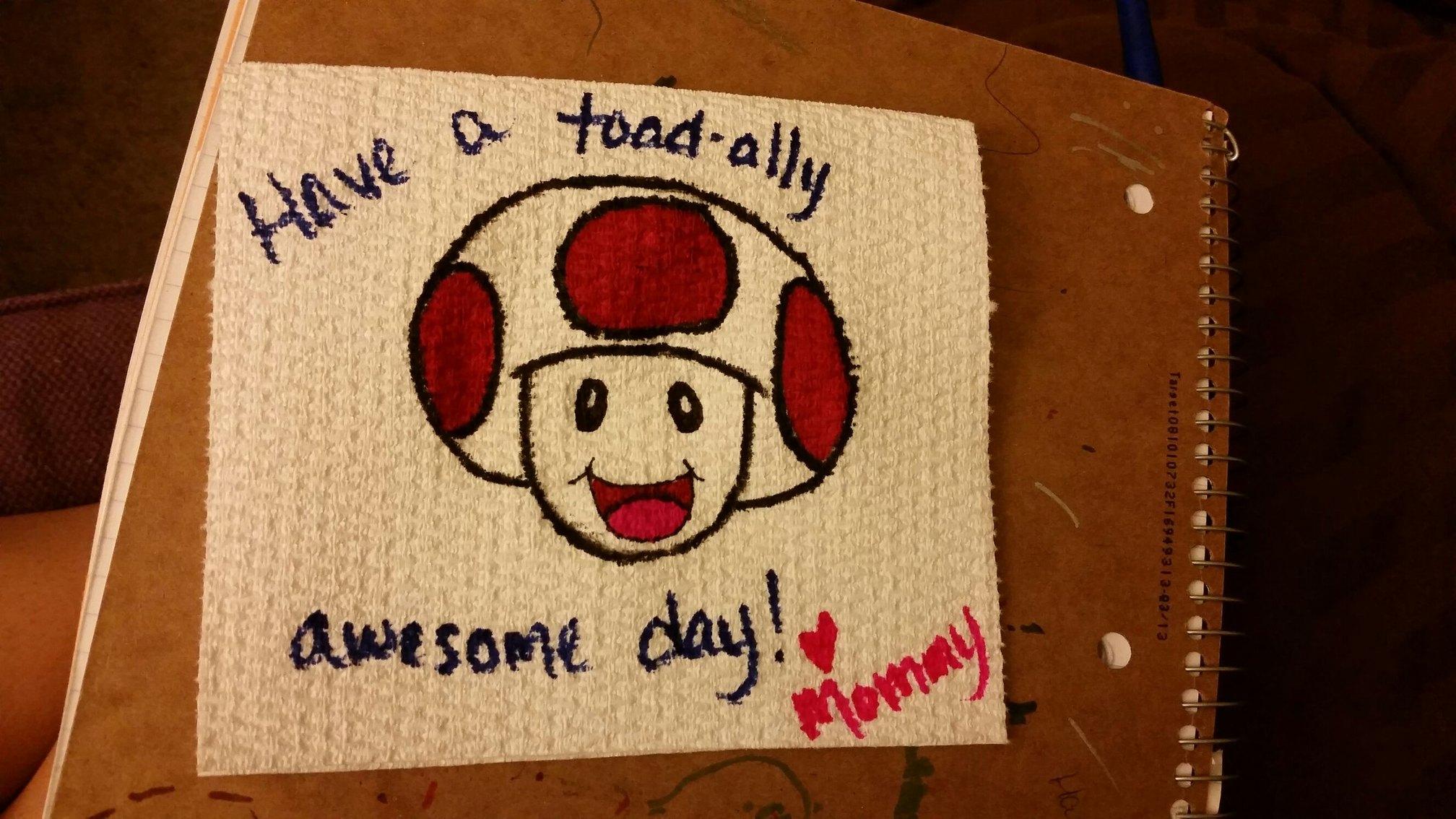 lunchbox napkin for my daughter - meme