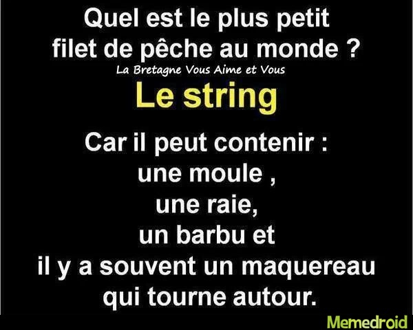Le string--------------> - meme