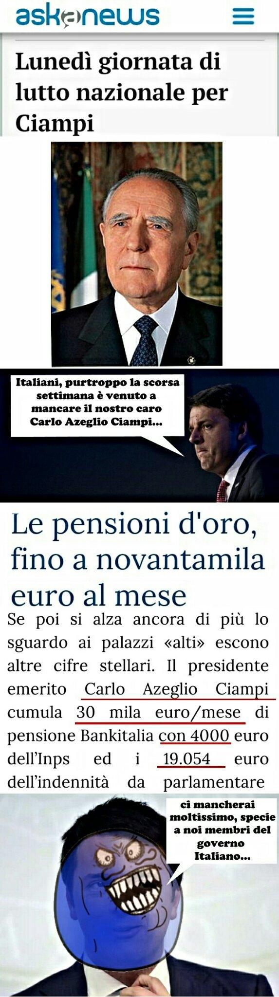 La triste verità di Renzi... - meme
